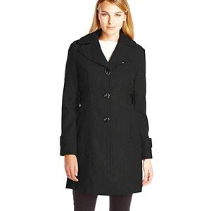 Kenneth Cole Reaction | Wool Blend Black Coat 6